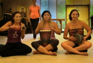 meditation yoga retreat drum circle